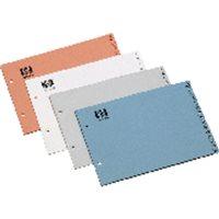 DEFINICLAS Separadores alfabeticos 15 posiciones Apaisado Colores surtidos Papel couche 95070, (10 u.)