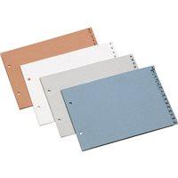 DEFINICLAS Separadores alfabeticos 15 posiciones A4, folio, cuarto y holandesa. Azul 95074, (10 u.)