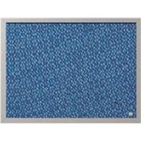 BI-OFFICE Tablero Tapizado 45X60 Azul FB04130608, (1 u.)