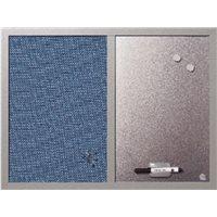 BI-OFFICE Tablero Tapizado Soft 45 x 60 cm Azul Borrador+rotulador+2 imanes MX04429608, (1 u.)