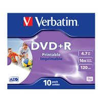 VERBATIM DVD+R Advanced AZO pack caja 10 ud 16x 4,7GB 120 min imprimible 43508, (1 u.)