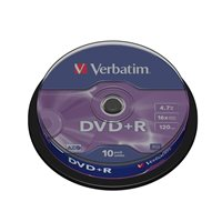 VERBATIM DVD+R Advanced AZO bobina pack 10 ud 16x 4,7GB 120 min 43498, (1 u.)