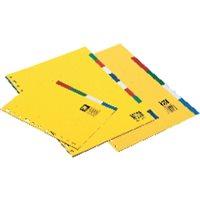 DEFINICLAS Separadores 5 posiciones Folio/A4 95675, (10 u.)