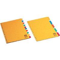 DEFINICLAS Separadores 5 posiciones Folio/A4 Colores surtidos Cartulina 95725, (10 u.)