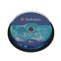 VERBATIM CD-R  Datalife Extra Protection bobina pack 10 ud 52x 700MB 80min 43437, (1 u.)