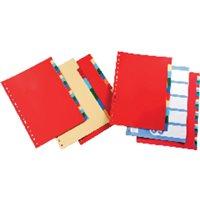DEFINICLAS Separadores 12 posiciones Folio/A4 Multitaladro Colores surtidos 95762, (5 u.)