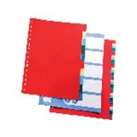 DEFINICLAS Separadores 5 posiciones Folio/A4 95765, (10 u.)