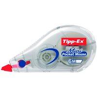 TIPP-EX Cinta correctora Mini poquet mouse 5mmx5m Opaca Cuerpo translucido 901817, (10 u.)