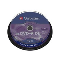 VERBATIM DVD+R Advanced AZO bobina pack 10 ud 8x  8,5GB 240 min 43666, (1 u.)