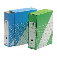 UNISYSTEM Revistero con funda Definiclas Carton 325x260x90mm. Folio Verde 1235.004.02.01, (5 u.)