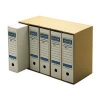 DEFINICLAS Contenedor archivo definitivo Para 5 cajas Folio 566 x 399 x 266mm Kraft 96573, (1 u.)