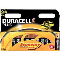 DURACELL Pilas Alcalinas Plus Power Pack 12 u AA LR06 394018167, (1 u.)