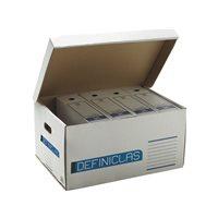 DEFINICLAS Contenedor archivo definitivo Para 5 archivadores  Folio 535X375X268 96575, (5 u.)