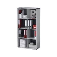 FAST Mueble biblioteca 8 compartimentos 155,4X79x33cm Gris  BM8K2.11, (1 u.)
