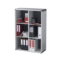 FAST Mueble biblioteca 6 compartimentos 117,2X79X33cm Gris BM6K2.11, (1 u.)
