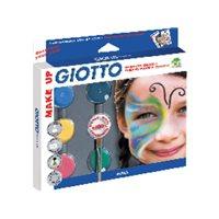 FILA Pinturas Maquillaje GIOTTO Set Sombras 6ud Colores surtidos Botes 5,5ml+Blanco 10ml 470100, (1 u.)
