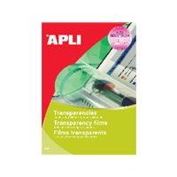 APLI Transparencias Caja de 50 ud De poliester De 100 micras A4 10580, (1 u.)