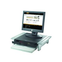 FELLOWES Soporte para monitor 21'' Office Suites sin atril negro/plateado 8031101, (1 u.)