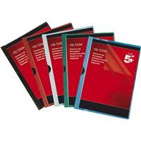 5* Paquete 25 dossiers clip capacidad 30 hojas A4 Negro PVC 200701, (1 u.)