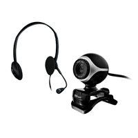 TRUST Webcam + Auriculares chat con micrófono 640 x 480 pixeles Usb 2.0 negro/plata 17028, (1 u.)