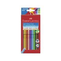 FABER CASTELL Estuche lapices Grip Colores Surtidos 12 ud Forma triangular 112412, (1 u.)