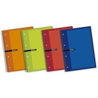 ENRI Cuaderno 5ud 140h A5+ Cuadricula 5x5 Surtido 100430087, (5 u.)