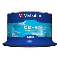 VERBATIM CD-R Extra Protection bobina pack 50 ud 52x 700MB 80min 43351, (1 u.)
