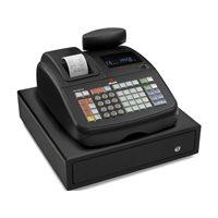 OLIVETTI Caja registradora ECR 6800 LD display alfanumérico con cajón grande negra B4631001, (1 u.)