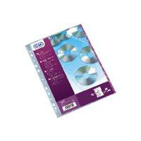 ELBA Bolsa de 10 fundas para CD/DVD 3 CD por funda con perforación multitaladro A4 100206995, (1 u.)