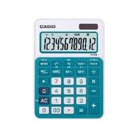 CASIO Calculadora sobremesa MS-20NC 12 digitos Azul Solar /pilas MS-20NC AZ, (1 u.)