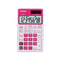 CASIO Calculadora de bolsillo SL-300 NC 8 digitos Rojo SL-300NC RJ, (1 u.)