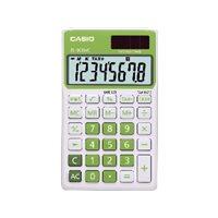 CASIO Calculadora de bolsillo SL-300 NC 8 digitos Verde Solar y pila SL-300NC VR, (1 u.)
