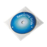 DURABLE Pack de 100 fundas CD/DVD adhesivas con solapa PP transparente 8280-19, (1 u.)