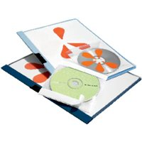 DURABLE Fundas Pocketfix Paquete 10 ud Transparente Para CD 492245, (1 u.)