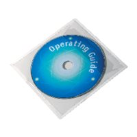 DURABLE Pack de 10 fundas CD/DVD adhesivas con solapa PP transparente 8080, (1 u.)