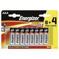ENERGIZER Pilas Alcalinas  ULTRA+ 8+4 ud AAA Blister 285581, (1 u.)