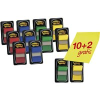 POST-IT Indices Adhesivos Pack 10ud + 2 Regalo FT600003527, (1 u.)