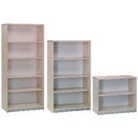 ROCADA Armario librería Serie Store Fabricado en Melamina A4 78x90x45cm Gris-Gris 1004AB02, (1 u.)