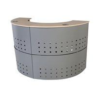 ROCADA Módulo de recepción circular serie Welcome 125x106x38 cm. Haya-aluminio 5100AA01, (1 u.)