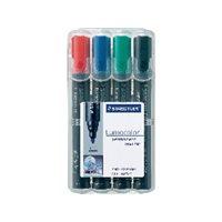 STAEDTLER Marcador permanente Estuche 4 ud Trazo 2mm Punta conica Colores surtidos 352 WP4, (1 u.)