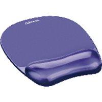 FELLOWES Reposamuñecas para el ratón de gel Crystal violeta 91441, (1 u.)
