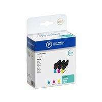 PELIKAN Cartuchos Inyeccion Negro/Amarillo/Cyan/Magenta Brother LC-985 Pack de 3 Com 4183866, (1 u.)