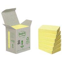 POST-IT Torre notas adhesivas 24 blocs 100h Amarillo 38x51mm Reciclado FT510110388, (1 u.)