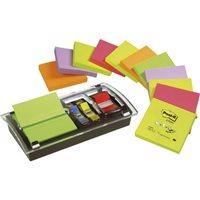 POST-IT Notas adhesivas Z-Notes Pack 12 blocs+Dispensador+notas surt. Millenium 76x76mm FT510102336, (1 u.)