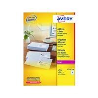 AVERY Etiquetas laser QuickPeel Caja 100 hojas 2400 ud 63,5x34 L7159-100, (1 u.)