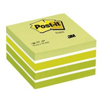 POST-IT Cubo notas adhesivas 450h Verde pastel 76x76mm FT510093238, (1 u.)
