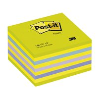 POST-IT Cubo notas adhesivas 450h Azul/Verde neon 76x76mm FT510093253, (1 u.)