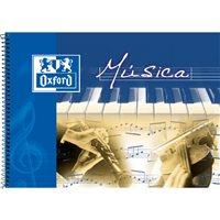 OXFORD Bloc musica 20 hojas Formato 4º apaisado 2 mm pentagrama 100302790, (10 u.)