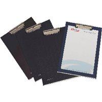 PARDO Portablocs Folio Pinza metal Negro PVC 82001, (4 u.)