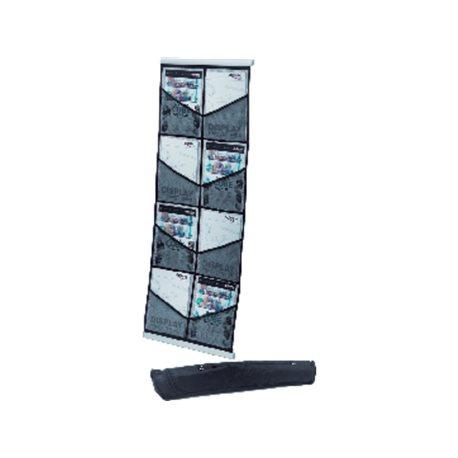 DEFLECTO Expositor de pie Portatil 140x33x33 8 compartimentos 4kg 780272, (1 u.)